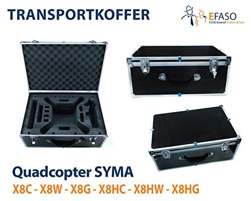 efaso PREMIUM Transportkoffer / Alukoffer für Quadrocopter Syma X8C, X8G, X8W, X8HC, X8HG, X8HW