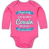 Shirtracer Sprüche Baby - Ich Habe einen verrückten Cousin blau - 3-6 Monate - Fuchsia - BZ30 - Baby Body Langarm