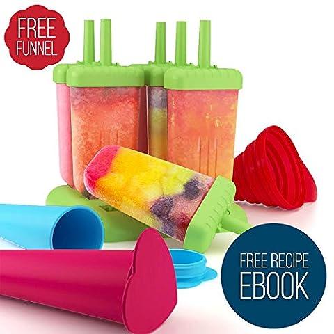 Eisformen Set für Kinder und Erwachsene - 6 Stück Eis