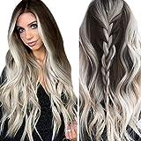 GNYD Damen 74/5000 Synthetische Perücke der Art- und Weisefrauen graue lange gewellte volle Perücken-Partei-Haar-Perücken