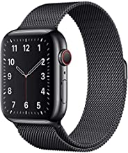 MARGOUN for Apple Watch 42mm Strap Loop Band , Stainless Steel Alloy Replacement Watch Band 44mm for iWatch Se