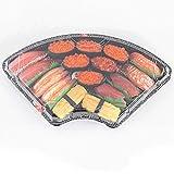 Assiette en plastique jetable en forme d'éventail - Rangement pour réfrigérateur Contenant pour préparation de repas Sushi Sashimi [25 paquets]...
