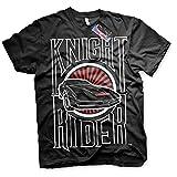 Knight Rider T-Shirt K.I.T.T. Schwarz Fernsehshows Trikot - Original Offiziel (Medium)
