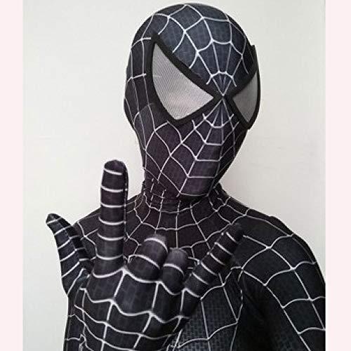 Schwarz Spiderman Kostüm 3D Gedruckt Lycra Spandex Halloween Cosplay Zentai Anzug Für Kinder Erwachsene,A-M