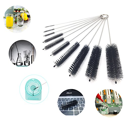prezzo JTENG Set di 11 spazzole per pulizia Spazzola Nylon Tube spazzola a provetta Pulizia e lavaggio cilindri graduati, pipa, filtri, bottiglie, provette, frullatore, spremiagrumi, estrattore