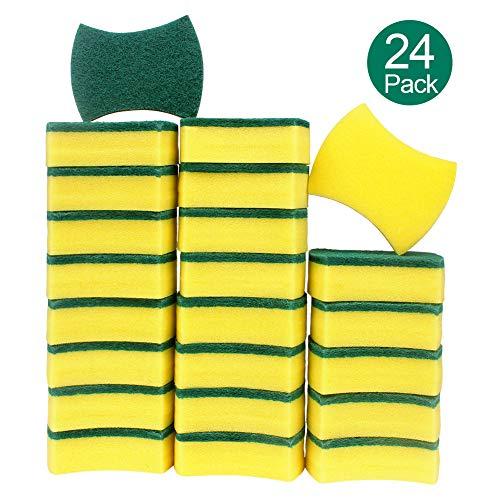Estropajo Mágico ,esafio 24 pcs Esponjas de Limpieza, Doble Cara para Eliminar las Manchas,Esponjas de Limpieza Multiusos para Baños y Cocinas