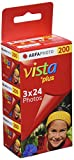 AgfaPhoto Vista plus 200 135-24 Color Negative Film 3er Pack