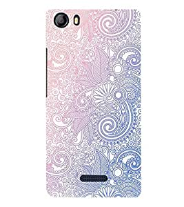 FUSON Ornamental Floral Background Pattern 3D Hard Polycarbonate Designer Back Case Cover for Micromax Canvas 5 E481