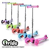 iRide sichere premium Kinder Roller, LED Räder, faltbar, ab 2 Jahre (Kickboard, Tretroller), TÜV geprüft (Grün)