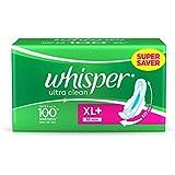 Whisper Ultra Plus Sanitary Pads XL Plus - 30 Count