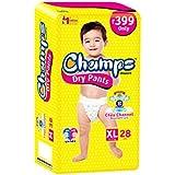 Premium Champs High Absorbent Premium Dry Pant Style Diaper | Premium Pant Diapers | Premium Dry Pant Diapers | Premium Baby Diapers | Anti-rash And Anti-bacterial Diaper | (X-Large, 28)