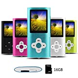 Btopllc MP3 Player, MP4 Player, Digital Music Player 16GB Internal Memory Card, Portable