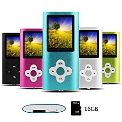 Btopllc Mp3-player, Mp4-player, Digitale Musik-player 16 Gb, Tragbare Und Kompakte Mp3mp4-musik-player, Media Player, Video Player, Video, Ebook, Bild Musik-player, Blau