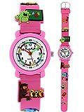Pacific Time First Kinder-Armbanduhr Schule Armbanduhr Kinder Mädchen Einschulung Kinderuhren Uhren Lernuhr Uhr Kinderarmbanduhr bunte Zeiger Kinderuhr analog Quarz rosa 86283 hergestellt von Pacific Time