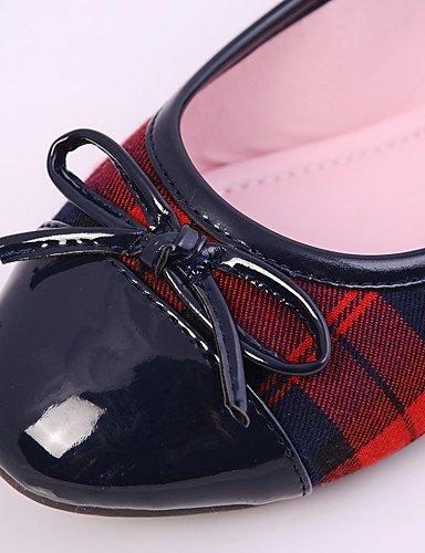 ShangYi Scarpe Donna - Mocassini - Casual - Punta arrotondata / Chiusa / Comoda - Piatto - Tessuto / Finta pelle - Nero e rosso black and red
