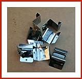 500 Stück Festpunkthaften 30 mm breit aus Edelstahl mit 25, 28 oder 32 mm Höhe (28 mm hoch)