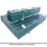 Doppelstabmattenzaun Gesamtlänge 15m Gittermatten Grün Komplett Set
