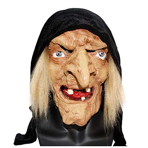 Halloween Latex Maske Terror Schwester Hexe Kopfbedeckung Bar Dance Party Cosplay Scary Show Lustige ()