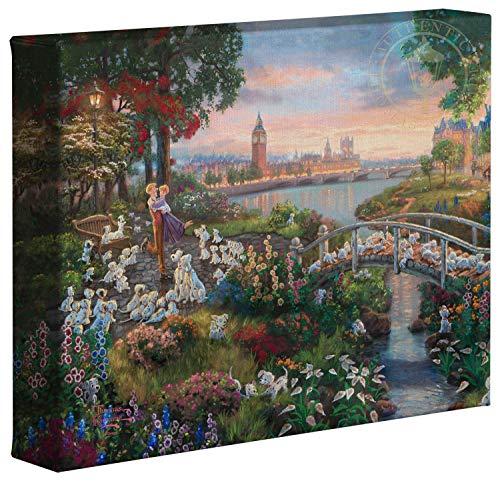 Thomas Kinkade Studios disney101Dalmatians 20,3x 25,4cm Galerie Verpackt Leinwand