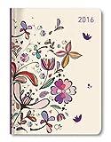Ladytimer Flower Art 2016 - Taschenplaner/Taschenkalender A6 - Weekly - 192 Seiten