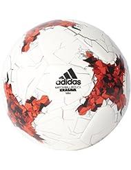 adidas Confedmini Balón de Fútbol Copa Confederaciones, Hombre, Blanco (Blanco / Rojo / Rojpot / Gricla), 1