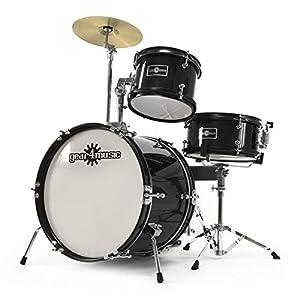 Junior 3 Piece Drum Kit by Gear4music Black