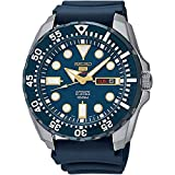 Seiko SRP605K2 5 Sports  - Wristwatch men's, Silicone, Band Colour: Blue