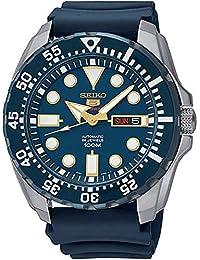 Seiko - SRP605K2 - 5 Sports - Montre Homme - Automatique Analogique - Cadran Bleu - Bracelet Silicone Bleu
