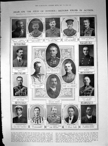 Briten Beendeten Deutschen Rückzug 1914 Vorgangs-Kampf-Marnes 2 Seiten