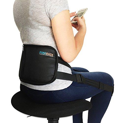 FIXOBACK Rückenstützgürtel und Haltungstrainer für gesundes Sitzen - Geradehalter zur Linderung von Rückenschmerzen und Entwicklung einer gesunden Körperhaltung (Basic)