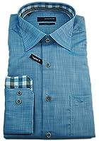 Seidensticker Herren Langarm Hemd Splendesto Regular Fit blau strukturiert mit Patch 387936.13