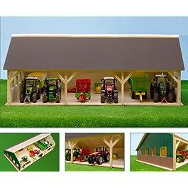 Agritura Rimessa in legno per 6 trattori, scala 1:32