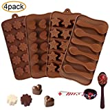 4 Pack Eis Form &Schokolade Form - Wiederverwendbare Eisformer aus 100% Lebensmittelsilikon