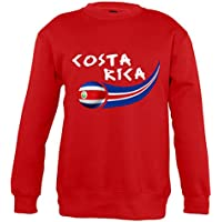 Supportershop–8Sweatshirt Costa Rica 8Mixta niños, Rojo, FR: L (Talla Fabricante: 8años)