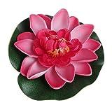 Watermk künstliche gefälschte schwimmende Blumen Lotus Seerose Pflanzen Gartentank Teich Dekor