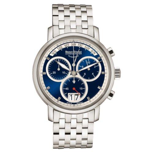 Bruno Söhnle Herren Chronograph Quarz Uhr mit Edelstahl Armband 17-13143-342
