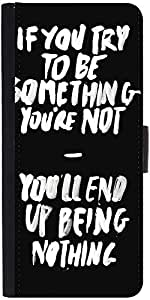 Snoogg Something You Must Be Graphic Snap On Hard Back Leather + Pc Flip Cove...