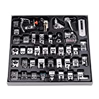 Decdeal 42 Pcs Sewing Machine Presser Feet Set, Professional Sewing Crafting Presser Foot Feet for Janome Brother Singer Sewing Machine Parts & Accessories, Blind Stitch Darning Presser Feet Kit
