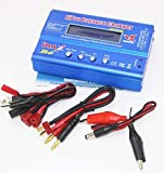 Shrinika B6 80W 6A Battery Charger Lipo NiMh Li-ion Ni-Cd Digital RC Balance Charger Discharger + 15v 6A Power Adapter+Charge Cable(only B6 T Plug)