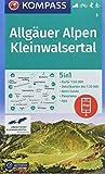 Allgäuer Alpen, Kleinwalsertal: 5in1 Wanderkarte 1:50000 mit Panorama, Aktiv Guide und Detailkarten inklusive Karte zur offline Verwendung in der ... Langlaufen. (KOMPASS-Wanderkarten, Band 3)