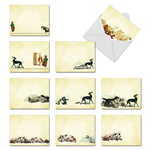 Hot Dogs Thank You Witz Grußkarte 10 Assorted Blank Note Cards (M3979)