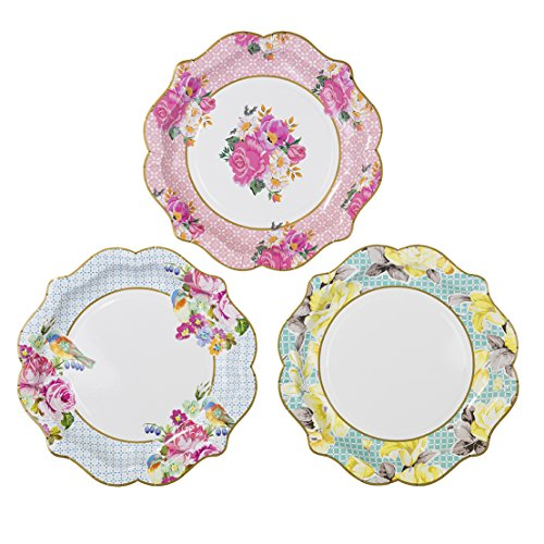 Talking Tables Truly Scrumptious Floral Paper Plates for Birthday Tea Party Wedding and Party Celebrations Vintage Chic Multicolour Dia 22cm (12 Pack ...  sc 1 st  Amazon UK & Wedding Party Cake Plates: Amazon.co.uk