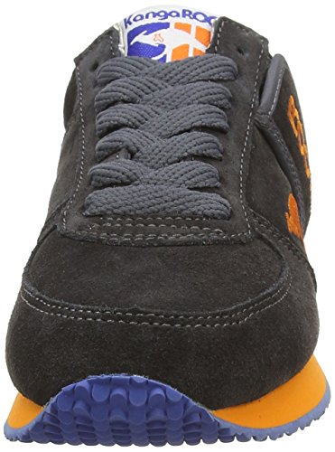 KangaROOS Combat-Suede, Chaussures Mixte Adulte gris (Charcoal)