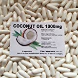 The Vitamin Organic Virgin Coconut Oil 1000mg 180 capsules FREE POSTAGE (L)