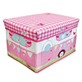 Caravan Retro Design Jumbo Kids Bedroom Room Tidy Toy Magazine Storage Chest Box Trunk