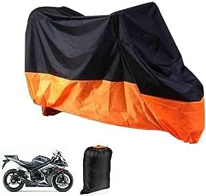 Deliawinterfel Motorrad Garage Abdeckplane Plane Faltgarage Wasserdicht Orange Und Schwarz Mit Tasche Xl 245x105x125cm By Auto