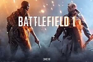 Battlefield 1 - Squad - Games Spiele Poster - Gaming - Grösse 91,5x61 cm + 1 Packung tesa Powerstrips® - Inhalt 20 Stück
