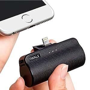 iWalk 3300mAh Batteria Esterna Compatta Portatile Power Bank Integrato Caricatore Caricabatterie per iPhone 5 6 7 8 Plus X SE