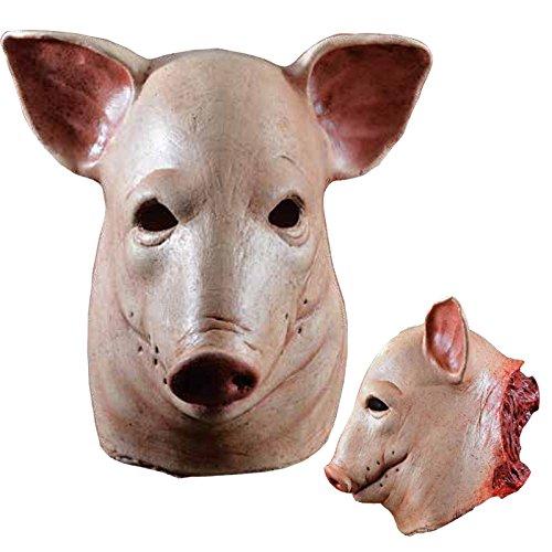 Générique mahal710–Maske Latex Erwachsene Schwein (Maske Erwachsene Schweine Latex)
