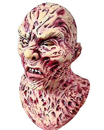 Kid Krueger Freddy Kostüm - Halloween - Blutrünstige Maske Zombie Masken Horror Masken Vollkopfmaske Resident Evil Monster Maske Zombie Kostüm Party Latex Maske Karneval,Gruselige Maske